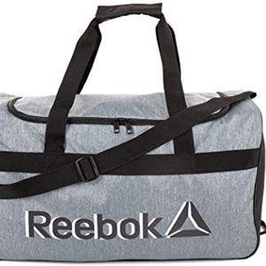 Reebok Warrior II medium heather grey duffle bag